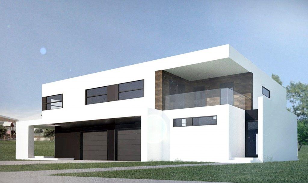 gotowe projekty nowoczesnych dom w jednorodzinnych dwulokalowych pi trowych pozna nanostudio. Black Bedroom Furniture Sets. Home Design Ideas