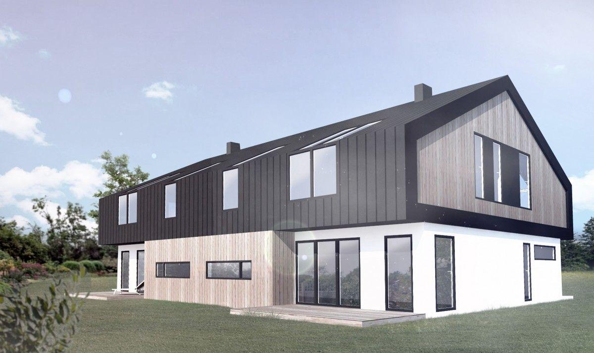 Gotowy projekt domu dwulokalowego B-121