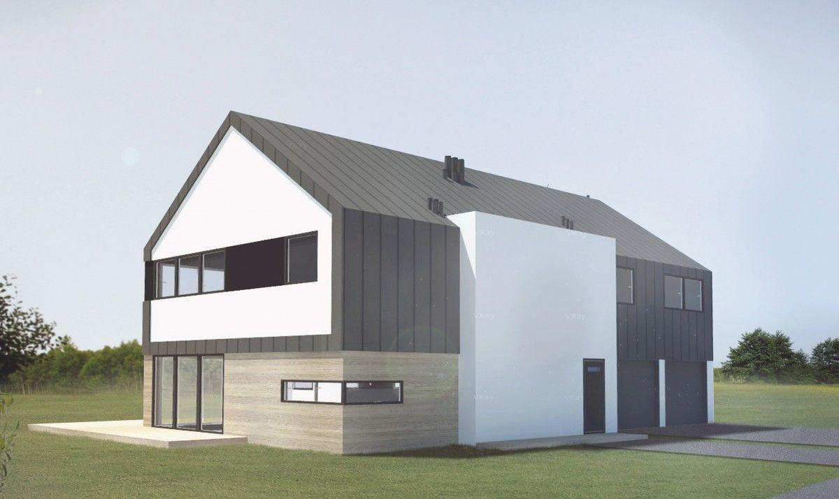Gotowy projekt domu dwulokalowego B-45