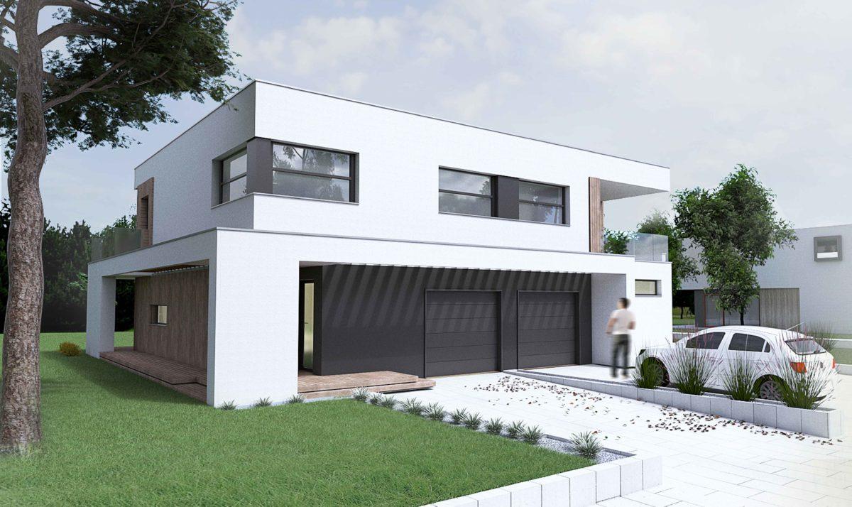 Gotowy projekt domu dwulokalowego B-42