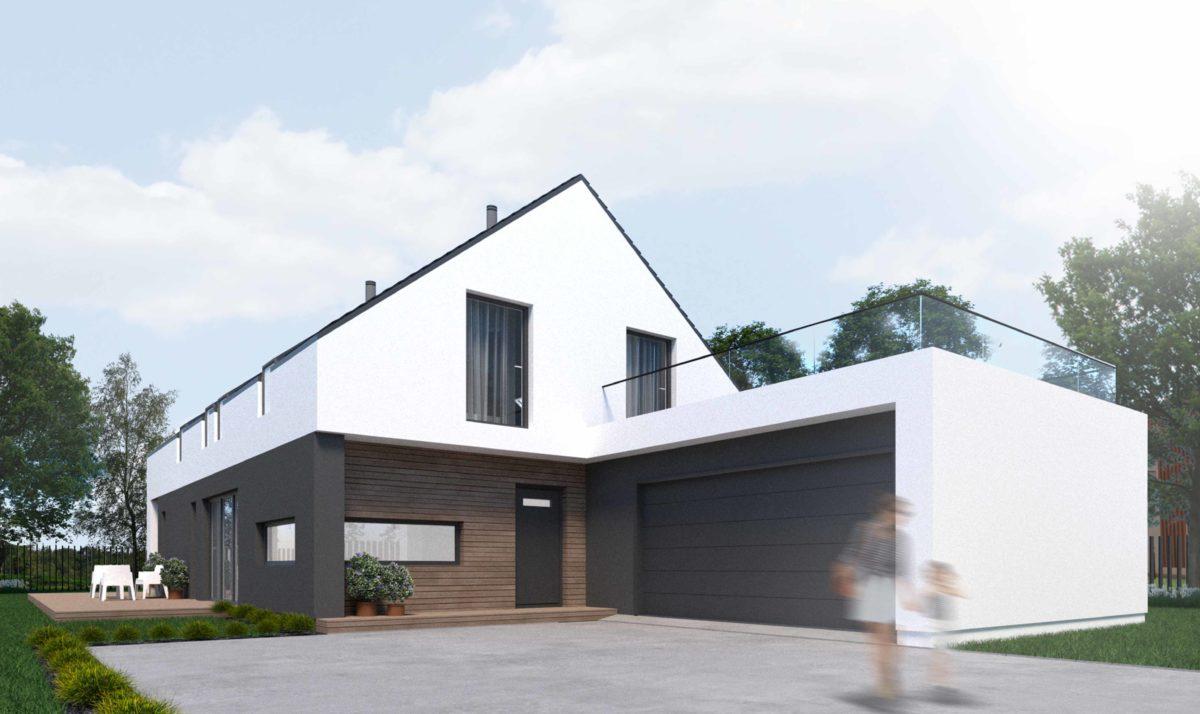 Gotowy projekt domu dwulokalowego B-55