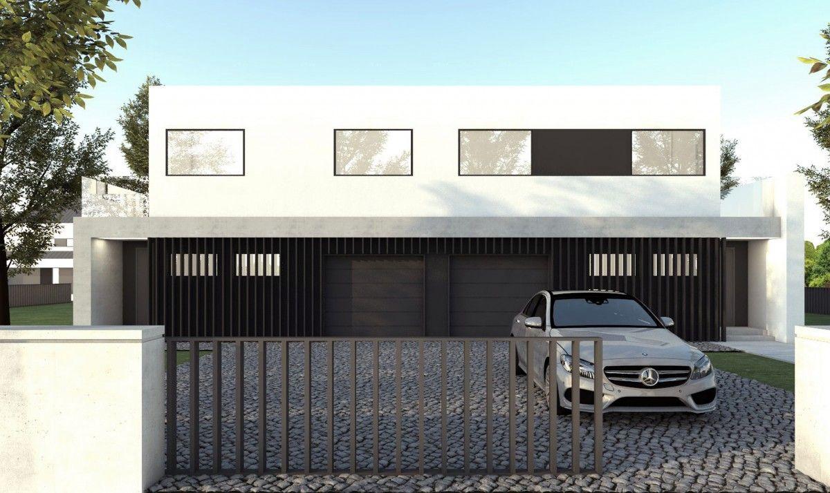 Gotowy projekt domu dwulokalowego B-122