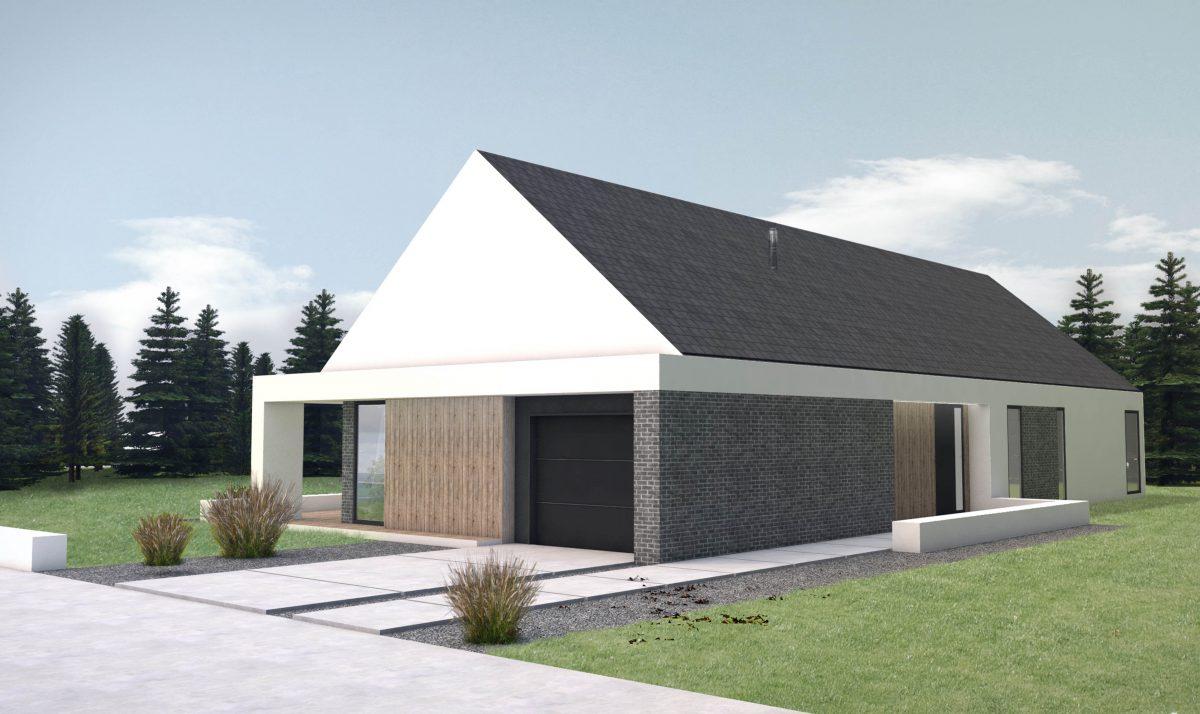 Gotowy projekt domu parterowego A-20