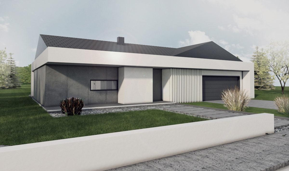 Gotowy projekt domu parterowego A-40